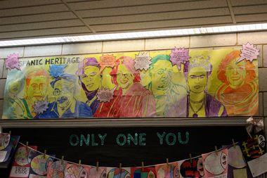 Columbia Explorers Academy students made murals of Hispanic leaders for Hispanic Heritage Month.