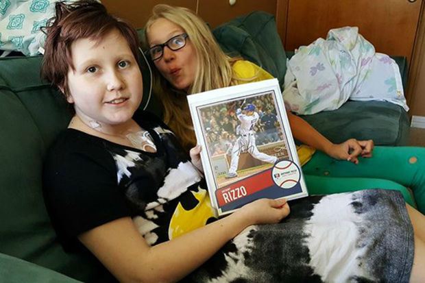 A signed photo of Cubs star Anthony Rizzo has gone missing from a young cancer patient's hospital room at St. Louis Children's Hospital.