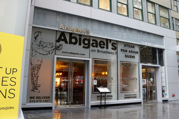 Abigael's on Broadway, at 1407 Broadway, between West 38th and 39th streets.