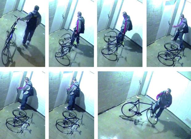 Stills of the surveillance footage