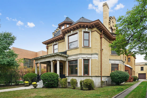 The home at 4841 S. Greenwood selling for $1.69 million is a dream for anyone who loves historic woodwork.