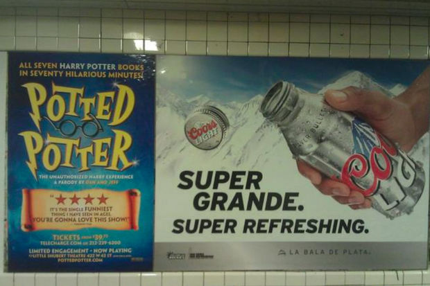 Makers of beer, liquor and wine will no longer be able to buy ads in subway stations.