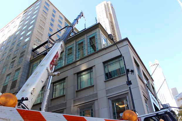 Superior Street is closed between Michigan Avenue and Rush Street while The Peninsula hotel builds a new rooftop bar. The luxury hotel says it is building the bar