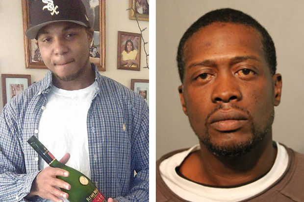 Lonnell Holmes (left) was gunned down in Austin on Sunday. Terrance Johnson (right) is charged with first-degree murder.
