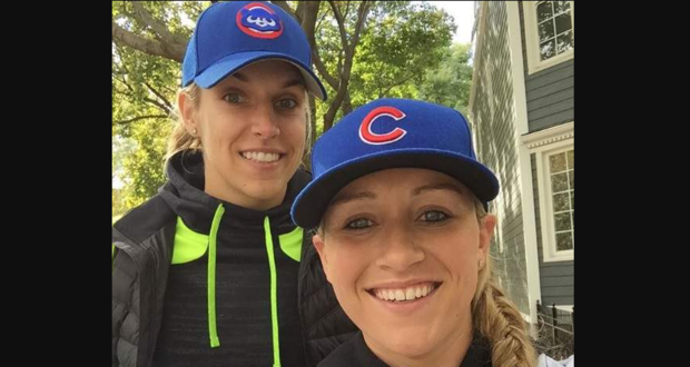 Elena Delle Donne and Amanda Clifton