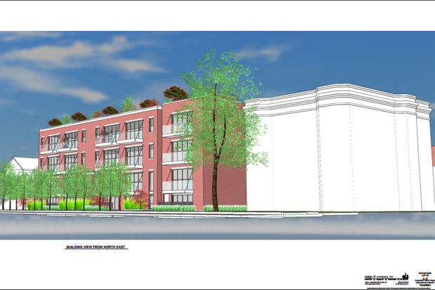 Renderings for the Hermitage Lofts proposed for 4040 and 4050 N. Hermitage Ave.