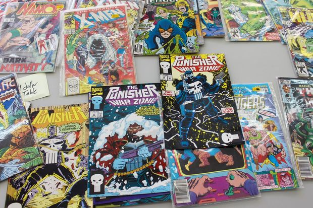 A selection of comics at the new shop.