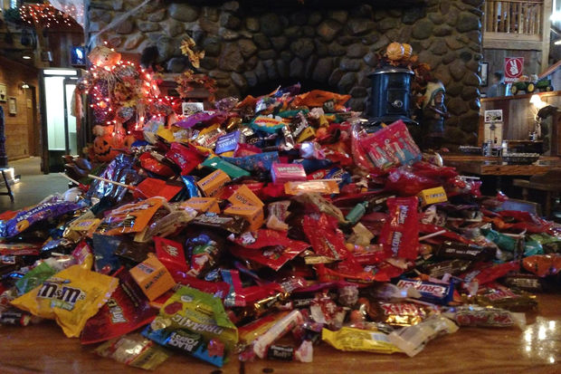 Nick's is offering free pizza in exchange for candy, which will be donated to deployed troops.