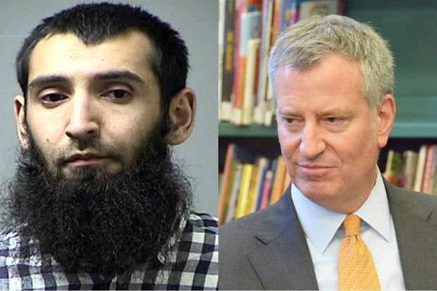Mayor Bill de Blasio said terror suspect Sayfullo Saipov should