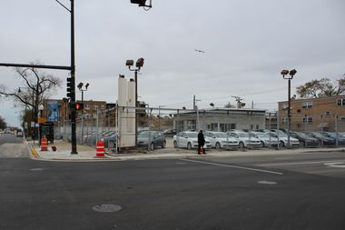 The retail space and coffee shop would be built on a vacant lot at the corner of Irving Park Road and Central Avenue.