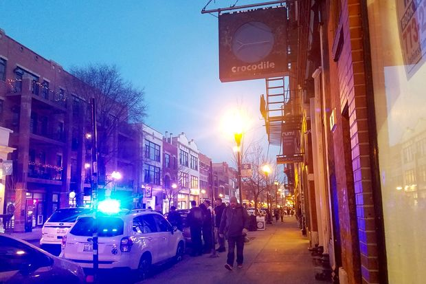Police were observed at Crocodile on Thursday night shortly before the bar was closed. City record show there is no active or current liquor license for the business.