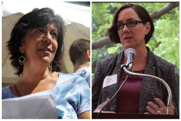 Illinois state Reps. Sara Feigenholtz and Kelly Cassidy.