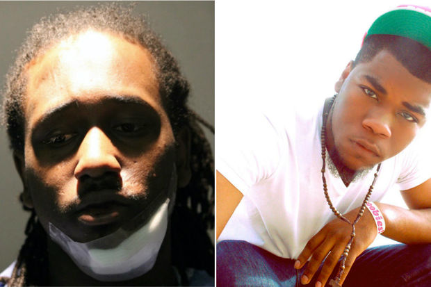 Kevin Alexander (left), of the 3000 block of West Fullerton Ave., was charged with first-degree murder in the fatal stabbing Wednesday of rapper John Walt (right).