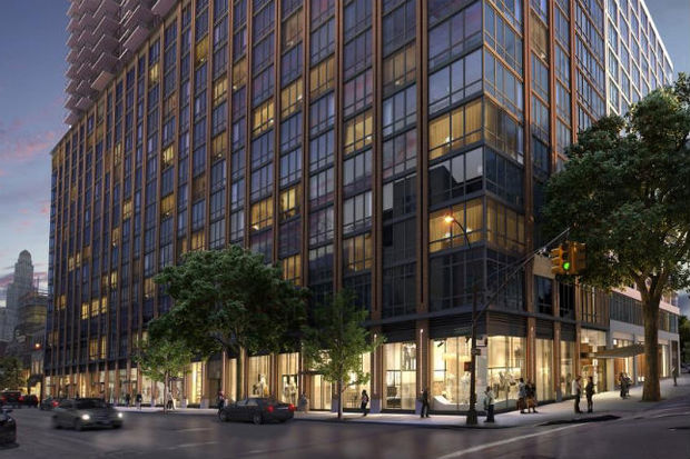 A rendering of the new apartment building at 33 Bond Street in Downtown Brooklyn.