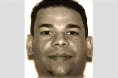 Juan Estrella, 40, is suspected of stabbing his wife in the back multiple times on Saturday afternoon, police said.