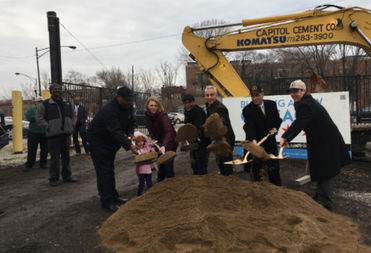 Mayor Rahm Emanuel convened with local leaders at a ground-breaking ceremony Saturday.