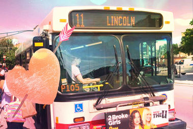 A Valentine's campaign is asking riders to #lovethebus.