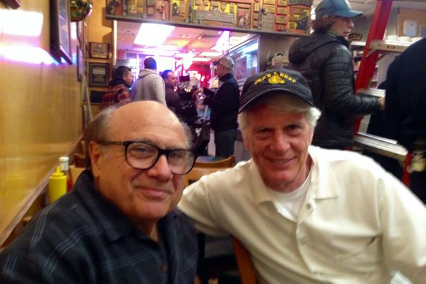 Danny DeVito and Jay Parker at Ben's Best Deli.