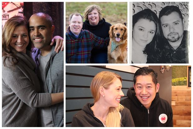 For Valentine's Day, four couples who own businesses together discuss the pros and cons of working with a partner.