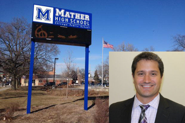 Peter Auffant was recently selected to be the new principal of Mather High School in West Ridge.