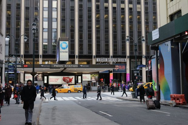 West 32nd Street, facing Seventh Avenue.