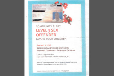 Ellison McKnight said a nonprofit posted this flier falsely claiming he was a sex offender.