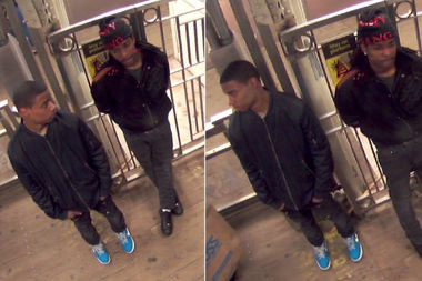 Police say these two men got on a Green Line train at the Randolph/Wabash stop and stole phones from fellow riders.
