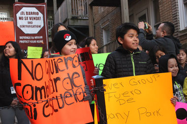 Tenants are fighting eviction, claiming they are being targeted because they are Latino.