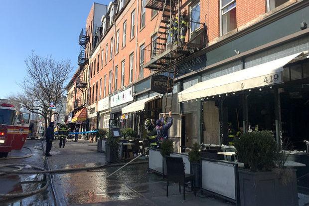 Putnam's Pub & Cooker was damaged by a fire above the Myrtle Avenue restaurant.