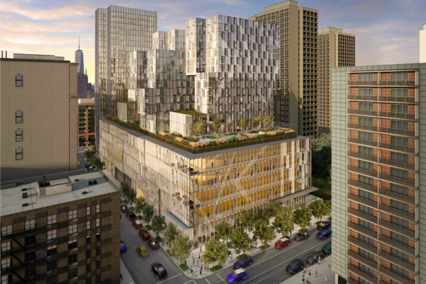 A rendering of the new building being constructed at 181 Mercer St.
