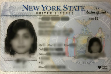 If you sign up to be an organ donor when you obtain a driver license in New York State, your ID will bear the icon pictured here on the bottom right corner.
