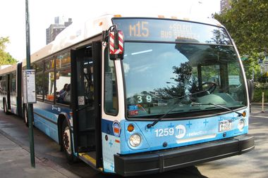 Locals say there is a need for more M15 Select Bus Service stops below Houston Street.
