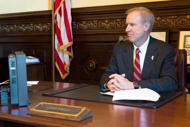 Gov. Bruce Raunergave his budget address in Springfield Wednesday afternoon.