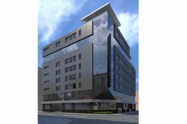 A rendering of a 99-room hotel planned for 1551 W. North Ave.