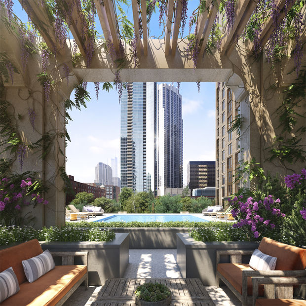 Check out the swanky pool and other amenities coming to a new high-rise under construction in Streeterville.