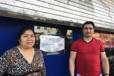 Marcela Gomez, 40, and Diego Matut, 42, closed their Ecuadorian restaurant La Gualaceña at 178 Wyckoff Ave. in solidarity with the