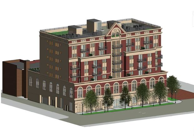 A rendering of the development at 1313 W. Morse Ave.