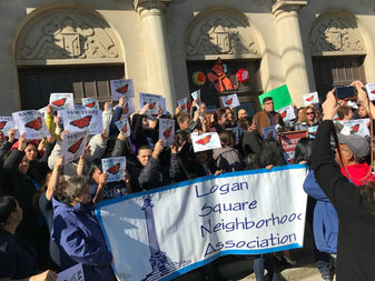 More than 100 parent leaders with Logan Square Neighborhood Association convened at Funston Elementary Friday morning to make the declaration.