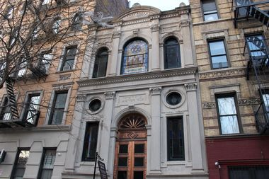The Adas Yisroel Anshe Meseritz synagogue is located at 415 E. 6th St.