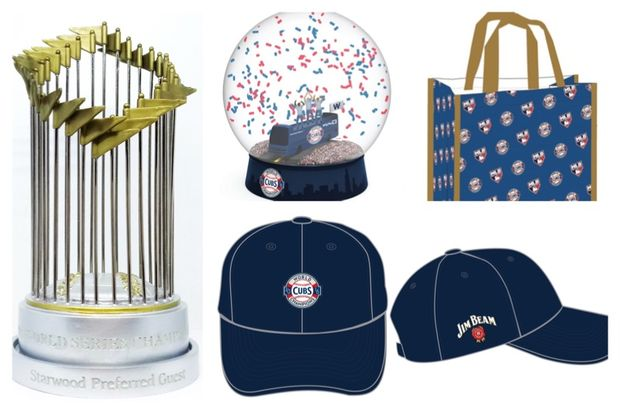 abe85722e5f Giveaway items for the Cubs  2017 season include a replica World Series  trophy
