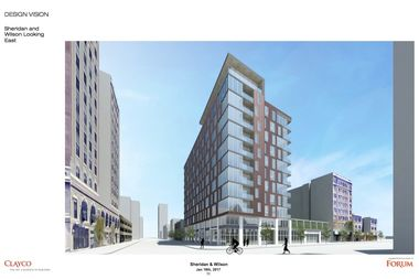 The project slated for 975 W. Wilson Ave. is now an 11-story building, according to renderings.