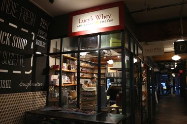The Lucy's Whey outpost inside the Chelsea Market.