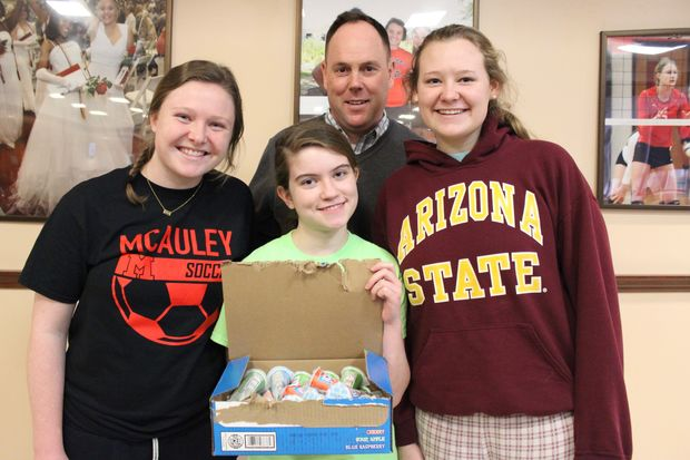 Clare Murphy (left), Annabelle Hladik (bottom), Katie Alberts (right) and Ald. Matt O'Shea will all participate in the Polar Plunge on Sunday. The fundraiser supports Special Olympics Chicago.