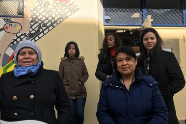 Mothers from two public middle schools co-located at  are angry that a charter school within K111 building on Starr Street will be allowed to expand.