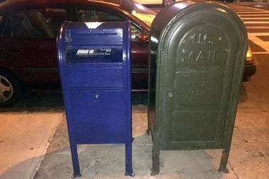 The U.S. Postal Inspection Service said seven retrofitted mailboxes were distributed Uptown.