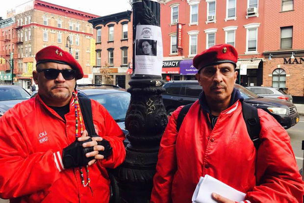 Greenpoint resident James Jones spotted the Guardian Angels posting fliers about Christopher Boissard on Feb. 23.