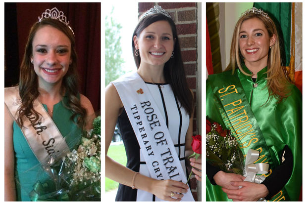 Shannon Reilly Zofkie (left) was named the South Side Irish Parade Queen on Saturday. Maggie McEldowney (middle) was named Ireland's 2016 Rose of Tralee in August. Maura Connors (right) was crowned in January the queen of the 2017 Chicago St. Patrick's Day Parade.