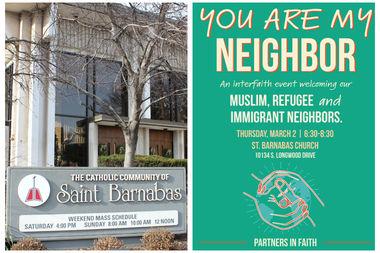 St. Barnabas Parish will host the multi-faith event called