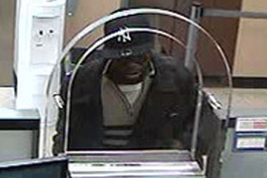 The man fled the bank empty-handed after the teller refused his demand to hand over cash, police said.