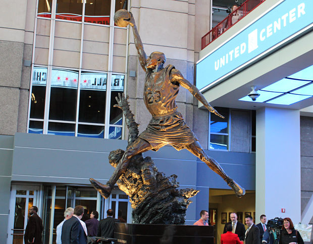 After nearly 23 years outside the United Center, the uber-popular Michael Jordan statue is now located inside the new United Center atrium.